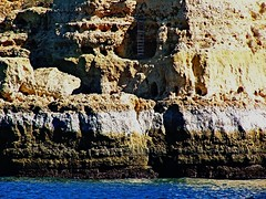 Smugglers hideaway (TomIestyn) Tags: caves coast rocks cliffs ladder sea portugal algarve tideline summer