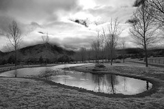 Clouds & Granite Mt 3 (rocallosa) Tags: bw clouds cloudysky landscapes iphone