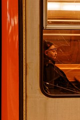 Glasses (Marc Pennartz) Tags: streetphotography brussels people metro