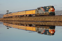 Alviso, CA (Matt C. Batryn-Rodriguez) Tags: up alviso 1983 westernpacific unionpacific reflection marsh