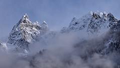 Blancheur - Snowwhite (CHAM BT) Tags: neige roche granit sommet aiguille montagne alpes pointe nuage massif snow rock summit needle mountain peak cloud capturenature