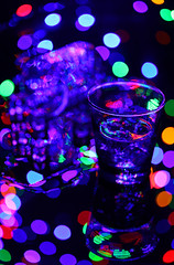 The Night (thor_thomsen) Tags: studio stillife glass wet tabletop colour night lights club drinks