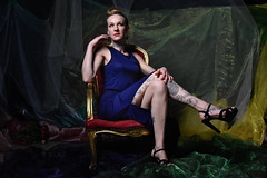 Anouk on the couch (Dannis van der Heiden) Tags: model eefje tattoo dress pose shoes heels chair cloths cccfotounie studio fashion modelphotography nikond750 nikkor50mmf18g d750