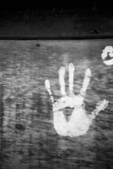 digits (Mano Green) Tags: hand white paint graffiti wall canal waterways canalside cheshire england uk april spring 2017 lomo lca ilford hp5 35mm film ilfosol s epson perfection v550 black monochrome greyscale