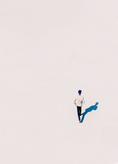 Man walking - Credit to https://homegets.com/ (davidstewartgets) Tags: drone shot high angle man outdoors person shadow walking