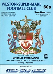 Weston Super Mare v Waterlooville (Havant & Waterlooville) Tags: havant waterlooville weston super mare southern league football programme