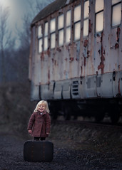 traveling (debbydecauwer) Tags: children child kids kid girl train traveling outdoor natural light day