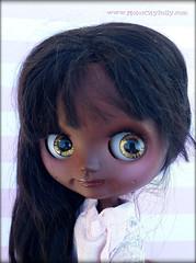 Sweet Alisha (Motor City Dolly) Tags: custom middie blythe doll black brown skin african american alpaca reroot motor city dolly sandra coe