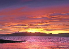 Red Sunset from Largs1 (g crawford) Tags: crawford panasonic lumix tz70 ayrshire northayrshire largs arran clyde riverclyde firthofclyde clydecoast sunset sundown gloaming sky light red