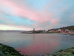 Pencil Opposite Sunset (g crawford) Tags: crawford panasonic lumix tz70 largs pencil clyde riverclyde firthofclyde clydecoast sunset sundown sky light red