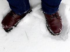 Day 343 of Year 10- crunchy snow (Pahz) Tags: 365days selfportrait year10 drmartens bouncingsoles drmartensluanacombatboots docs