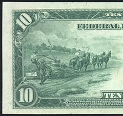 1914 series $10 bill of a hemp harvest that is printed 'right on the money. (jwtorg) Tags: 1914 series 10 bill hemp harvest money