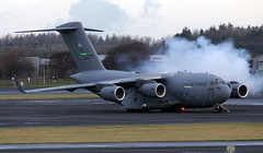 08-8199 (PrestwickAirportPhotography) Tags: egpk prestwick airport usaf united states air force boeing c17a globmaster 088199 mcchord mobility command