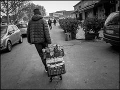 Swing! (GColoPhotographer) Tags: streetphotography cart bw market blackandwhite bianconero street