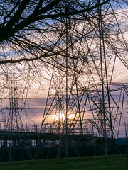 Transmission sunrise (Thomas Cizauskas) Tags: winter tower chattanooga sunrise dawn tennessee electricity goldenhour industrial powerplant