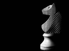 2020-022 Knight Time (Darren Wilkin) Tags: lowkey mono chess chesspiece knight oneaday 366 propbox