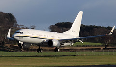 165834 (PrestwickAirportPhotography) Tags: egpk prestwick airport usn united states navy boeing c40a clipper 165834 nas whidbey island