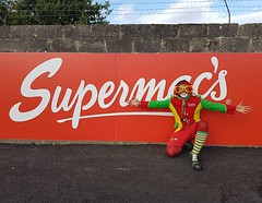 A super clown for a @supermacsofficial . 😉 #supermacs #superclown #Red #ireland (Clown Jeca (Marco Pessanha)) Tags: jecatheclown instagram clown funny clownjeca