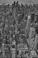 Aerial Bryant Park NYC BW (Susan Candelario) Tags: 42ndst 42ndstreet aerialview categories commercialbuilding chryslerbuilding cityscapes esb eastriver empirestatebuilding f flatironbuilding flatirondistrict hudsonriver lowermanhattan manhattan manhattanskyline metlifebuilding metlifeinsuranceco ny nyc nycskyline newyork newyorkcity newyorkcityskyline newyorklifeinsuranceco northamerica oneworldtradecenter sdcgeographiclocation susancandelario timessquare topview unitedstates viewfromabove worldtradecenter aerial aerials architectural architecture birdseyeview bluehour bryantpark city dusk evening iconic illuminated land lights lit midtown midtownmanhattan neonsign nightfall scenery signs skyline skylines skyscraper skyscrapers sunset sundown sunsets twilight upperview urban urbanaerial urbanlandscape urbanskyline