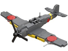Ki-100 Type 5 Fighter 1.1 (in progress) (dreki.bryni) Tags: wwii lego afol moc fighter aircraft military