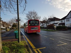 Photo of Christmas Eve, the rear of WS2 LJ12 CGG on route R3, 24th December 2019.