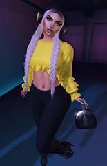 Music and Shopping (Mαяℓу) Tags: lsrmoda lsr secondlife treschic event fashion fashioninsecondlife secondlifefashion fabia anlarposes euphoric league yellow