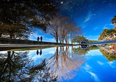 A universe among us (Huzzatul Mursalin) Tags: reflection wide iphone