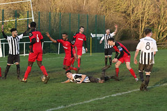 131 (Dale James Photo's) Tags: old bradwell united football club versus harefield fc spartan south midlands league challenge trophy quarter final sports social milton keynes saturday 18th january 2020 non