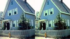 Batch G 0199 (dizzygum) Tags: vintage 3d stereo slide image 1959 house exterior