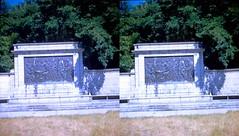Batch G 0192 (dizzygum) Tags: vintage 3d stereo slide image 1959 monument plack
