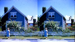 Batch G 0165 (dizzygum) Tags: vintage 3d stereo slide image 1959 house exterior