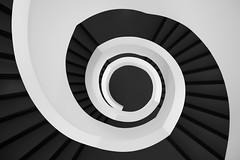 yin & yang (#ca) Tags: olympus25mmf18 em10markii noiretblanc blackandwhite stairwell treppenhaus leitzpark wetzlar yinyang schwarzweis stairs treppe