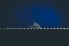 22/366 - Ship At Sea (Forty-9) Tags: canon eos6d eflens ef2470mmf28liiusm lightroom tomoskay forty9 yongnuo yongnuospeedliteyn560iv strobist strobism studio flash photr softbox project366 366 2020 3662020 project3662020 day22 22366 january 22ndjanuary2020 22012020 photoaday wednesday ship sea knife breadknife monopoly monopolytoken blue shipatsea