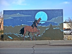 1/22/2020 Mural (THE RANGE PRODUCTIONS) Tags: mural truthorconesquencesnm town southwestus smalltownsouthwest sierracountynm desert horse newmexico