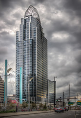Great American Insurance Group Tower (donnieking1811) Tags: ohio cincinnati greatamericaninsurancegroupbuilding architecture building tower exterior outdoors sky clouds hdr canon 60d lightroom photomatixpro