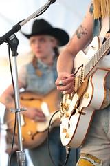 Peck Picks (peterkelly) Tags: digital canon 6d northamerica canada ontario guelphlakeconservationarea guelph concert music musician hillside 2019 hillsidefestival mike mic microphone woman guitar player playing cowboyhat black guitarist hand
