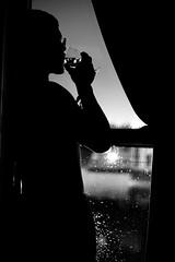 9.12-14 (fcordoba.fotografia) Tags: portrait blackwhite rain night window glassofwine wine nikon nikond750 50mm bokeh monochrome sad sadness boy chico man hombre retrato oscuridad darkness copa copadevino noche lluvia