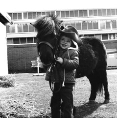 A Girl and Her Pony, 1967 (National Archives of Australia) Tags: pony child australianhistory nationalarchivesofaustralia eastershow melbourne melbourneshow 1967 1960s