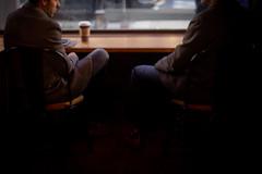 morning briefing (josephmf) Tags: street dc downtown washington coffee shop shoes socks meeting