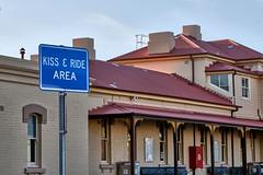 * (Erich Schieber) Tags: australia orange railwaystation sign architecture