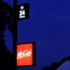 McCafe (Erich Schieber) Tags: australia orange sign urban advertising night mcdonalds