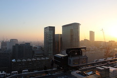 overlooking barbican estate (jan.ldm) Tags: barbican city london rootopping urbex sunrise