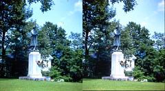 Batch G 0174 (dizzygum) Tags: vintage 3d stereo slide image 1959 cilil war statue