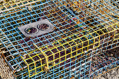 Colorful Lobster Pot (brucetopher) Tags: colorful trap colors purple yellow pink blue cage lobsterpot lobstertrap lobster fishing fisherman