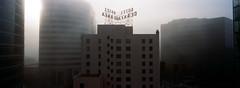 San Jose (bior) Tags: sanjose fog california panorama xpan portra400 hoteldeanza downtownsanjose