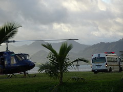 Medivac (mikecogh) Tags: suva fiji helicopter ambulance medivac medical emergency