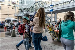 17drg0400 (dmitryzhkov) Tags: urban city everyday public place outdoor life human social stranger documentary photojournalism candid street dmitryryzhkov moscow russia streetphotography people man mankind humanity color colour bad weather rain umbrella