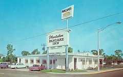 Plantation Pancake Inn, Ft. Myers, FL (Guy Clinch) Tags: postcard oldcars oldsign restaurant