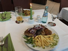 Grilled Meat - Dinner in a Restaurant in Weiterstadt, Germany