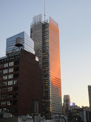 2020 January Evening Light New York Times Building 4622 (Brechtbug) Tags: 2020 evening light new york times building afternoon day clock cloudless 01222020 above hells kitchen clinton architecture skylines sunlight nyc skyline city art scape cityscape winter weather blue sky